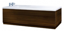 Crown High Gloss Walnut Bath Panels with Plinths